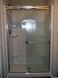 New shower enclosure is a great renovation.