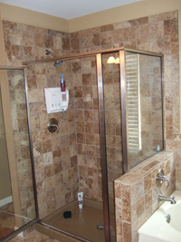Custom tile shower remodel