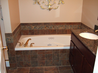 tub and tile border installation