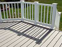 Maintenance free deck railing
