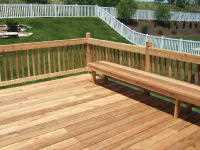 custom deck with bench