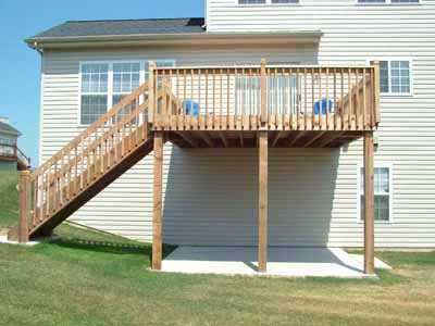 custom deck for walkout basement remodeling photo & Decks and Patios | Heartland Remodeling