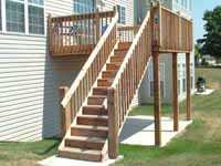 walkout basement deck steps
