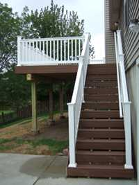 Maintenance free deck materials are very nice looking.