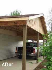 framing whole of carport addition before siding and paint