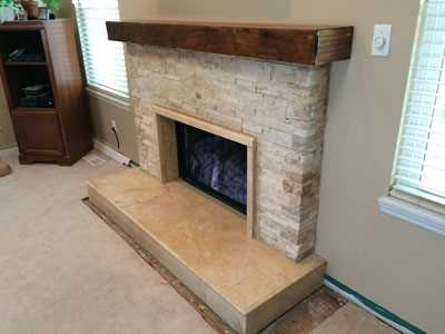 contemporary fireplace surround lg