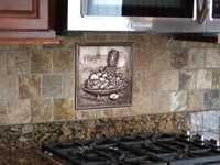 tile backplash with granite countertop in new kitchen