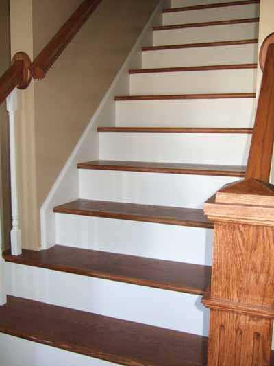 Wood And Paint Custom Stairs And Trim Remodeling Photo