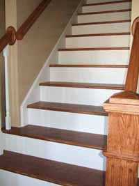 wood and paint custom stairs and trim